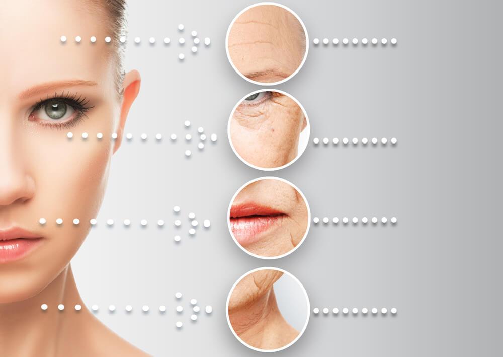 Rosto com rugas - tratamento facial